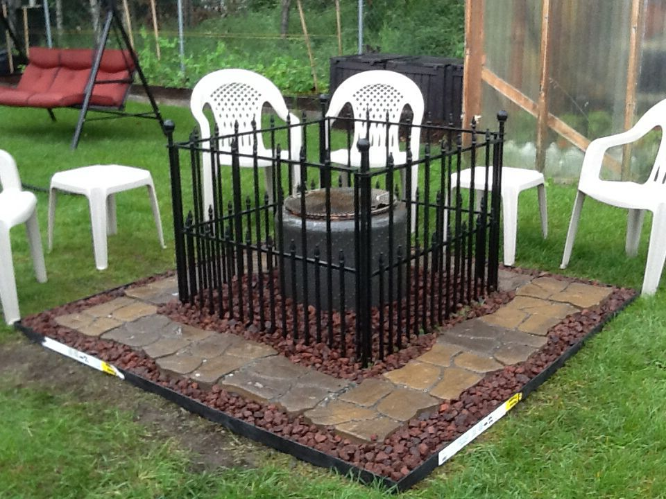 Child Safe Washer Fire Pit Outdoor Fire Pit Exterior Design