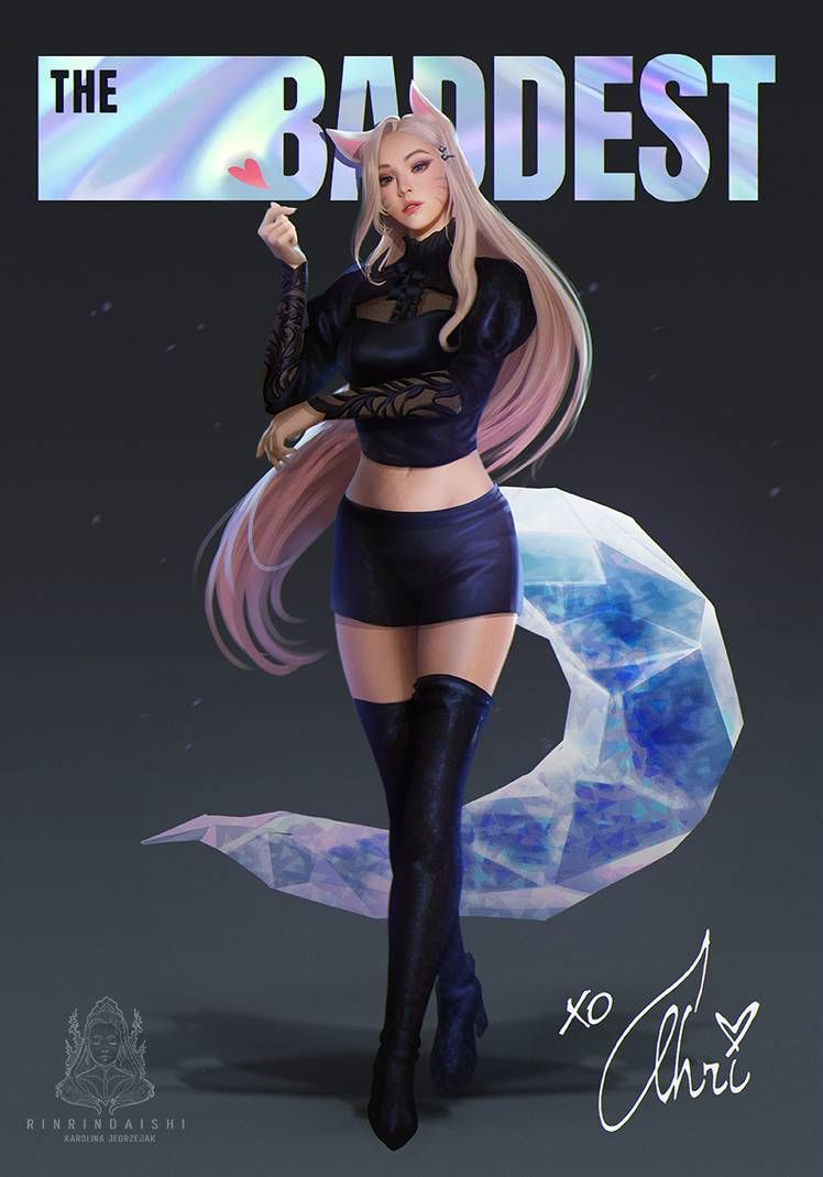 The Baddest Kda Ahri By Rinrindaishi On Deviantart In 2020 League Of Legends Music Ahri League League Of Legends Characters