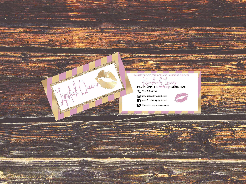 NEW! LipSense Business Cards - SeneGence International - LipSense ...