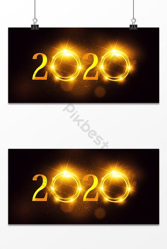 simple style creative halo light effect 2020 conference