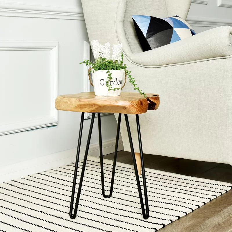 August Grove Cedar End Table Reviews Wayfair In 2020 Stylish Chairs Furniture End Tables