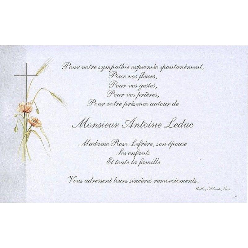 Carte De Remerciement Décès Buromac 670090 Papier