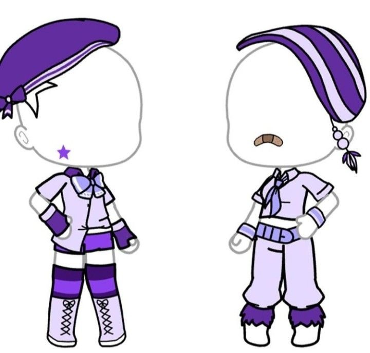 Gacha outfits in 2020 character outfits purple