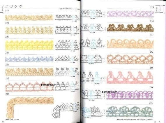 Crochet Patterns Book Motifs And Edging 300 By Pomadour24 On Etsy