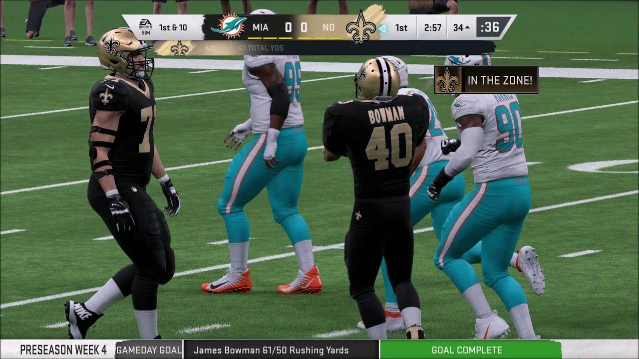 Madden 20 Franchise Mode Episode 3 New Orleans Saints Vs Miami