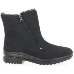 Stiefel für Damen Varomed Microvelours Ina Schwarz Größe 44 Varomed #womenswinterfashion