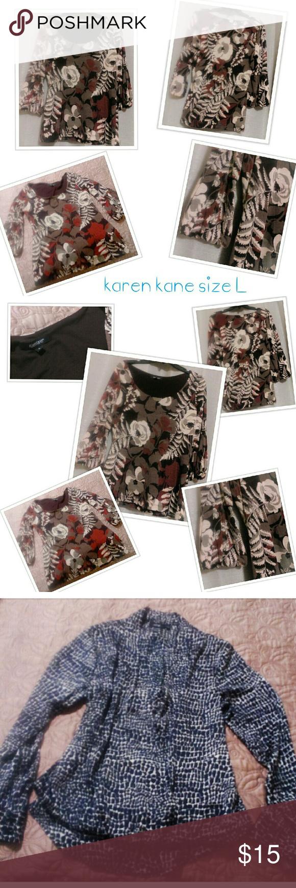 2 Piece Bundle 1 Nice Floral And Natural Tones Mid Sleeve Shirt