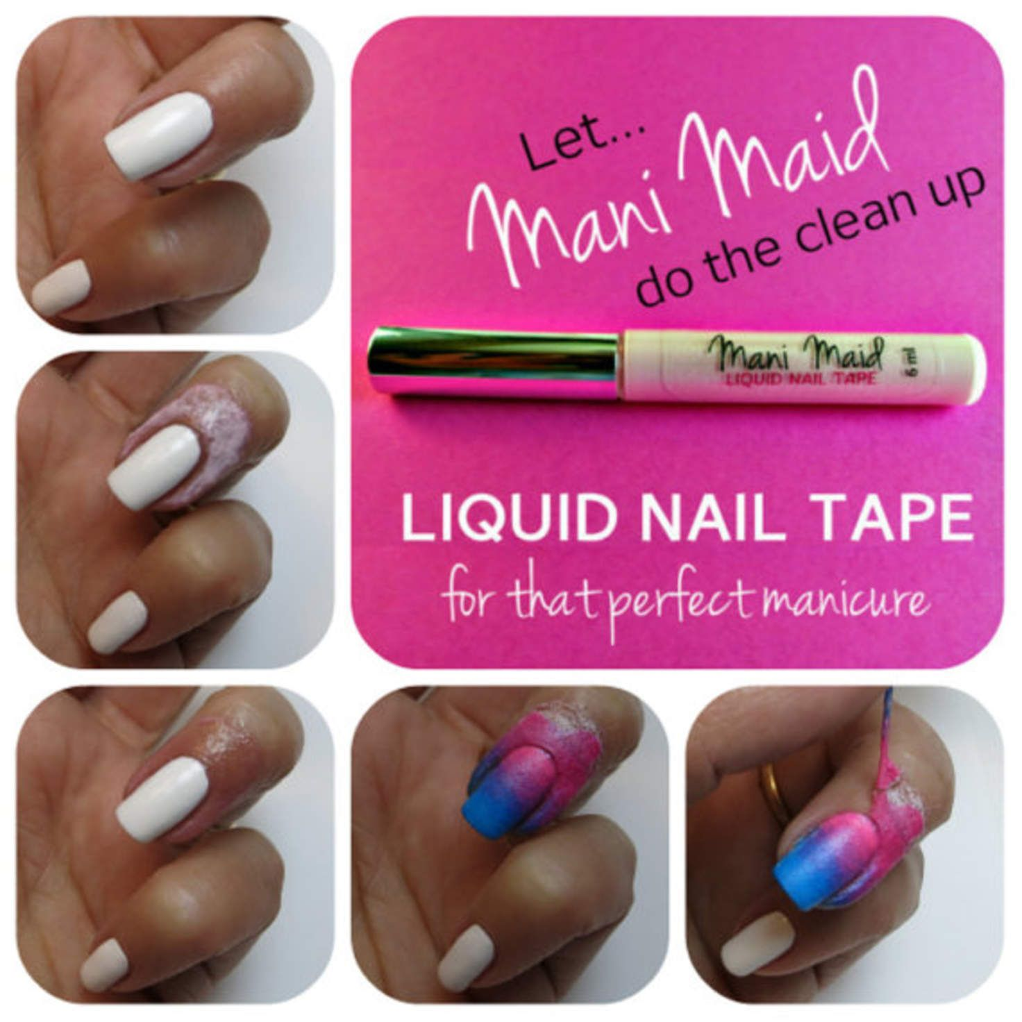 Liquid Nail Tape Latex L Off Mani Maid