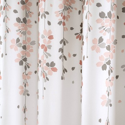 Weeping Flower Shower Curtain Blush Gray Lush Decor Pink