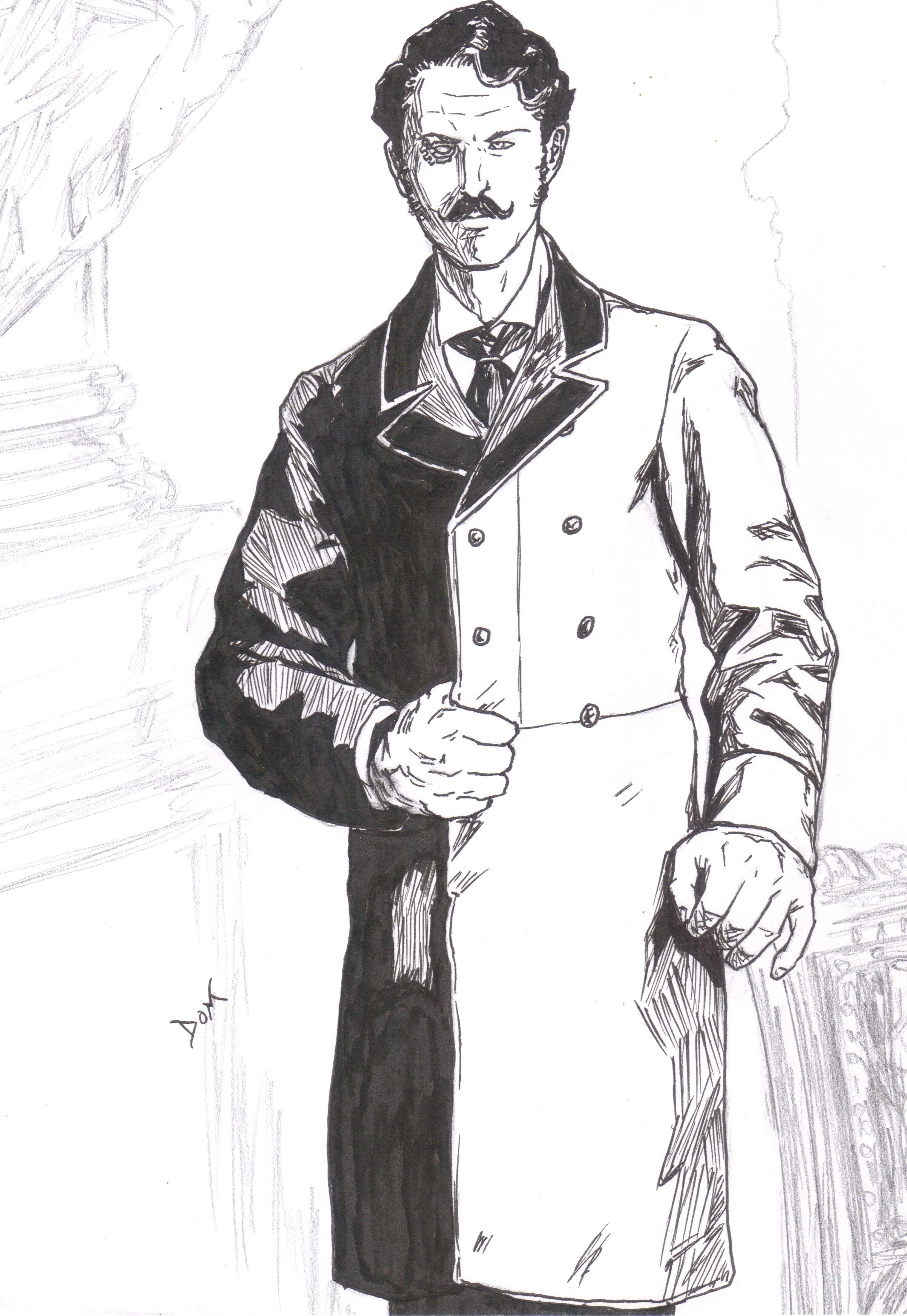 "Archibald Blackman, The Detective.  Main character from ""The Case of The Dollman"", short story featured on volume 2 of ""Steampunk Originals"".  Character created by Dominic Black and Edgardo Granel-Ruiz."