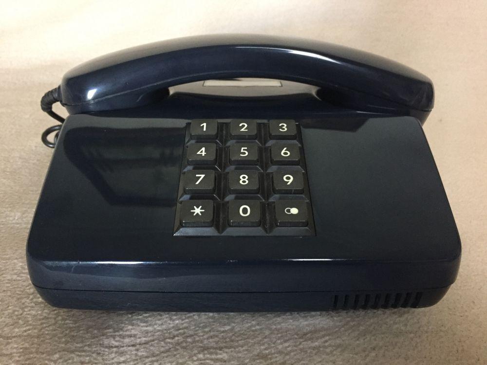 Bundespost Telefon Fe Tap 0111 Vintage Post Phone Blau Am