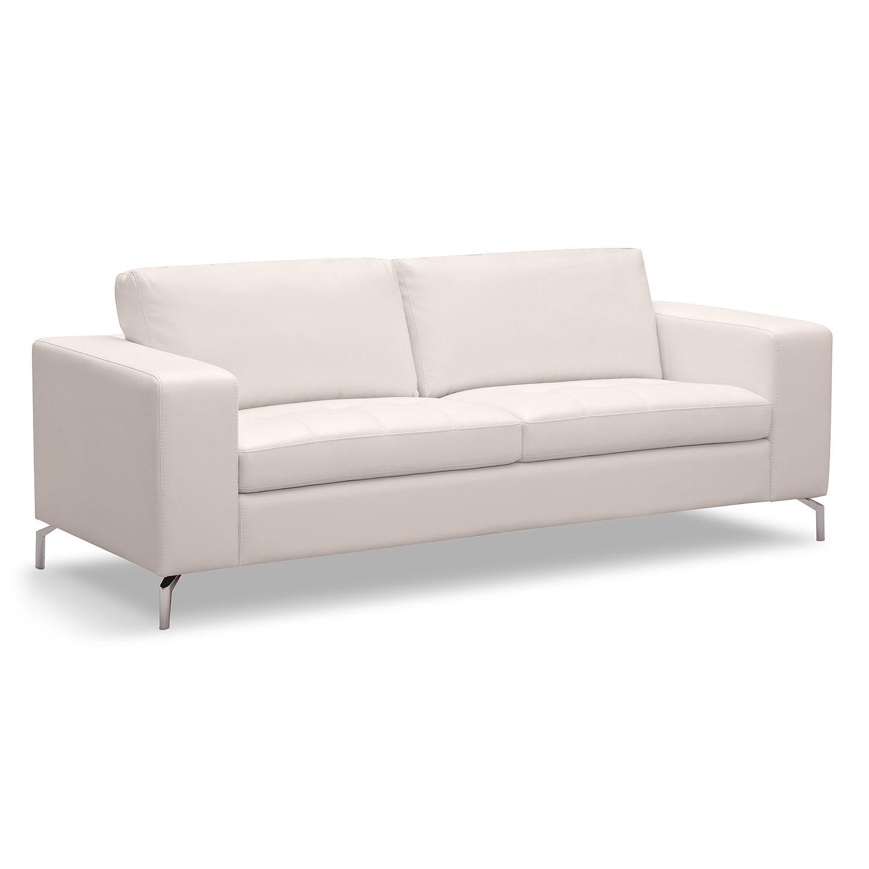 Superior Casino Leather Sofa   American Signature Furniture (Main Living Room)