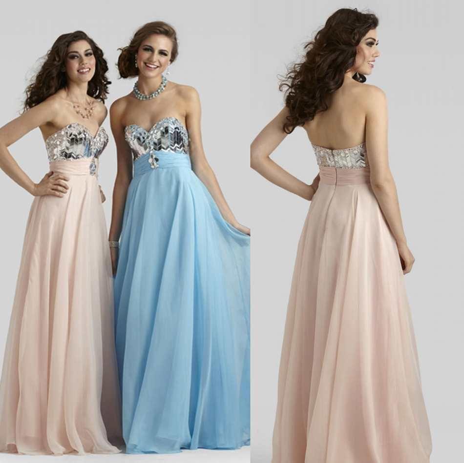 Shining new sweetheart neckline long prom dresses princess