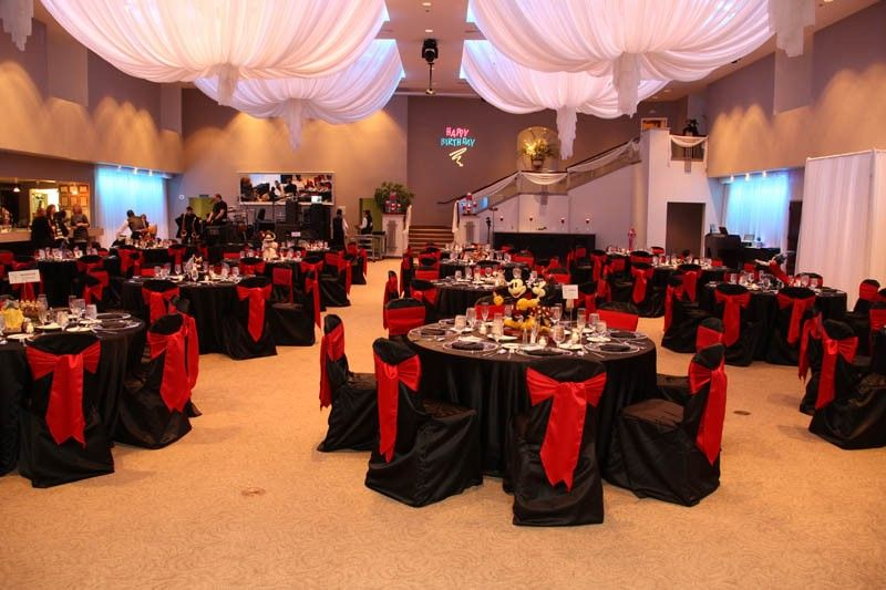 Red And Black Reception Decorations