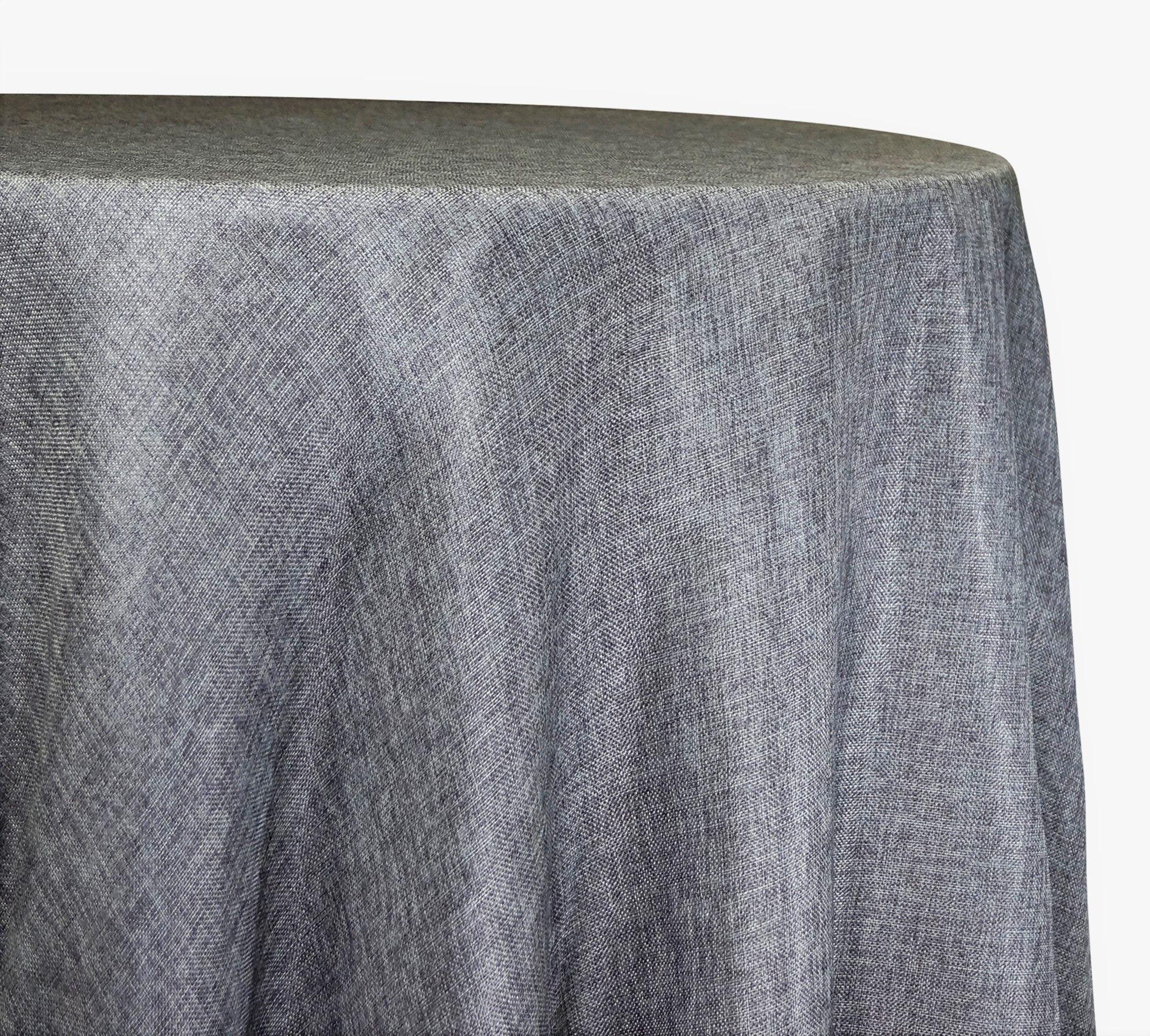 Imitation Burlap 100 Polyester Tablecloths Overlays Pink