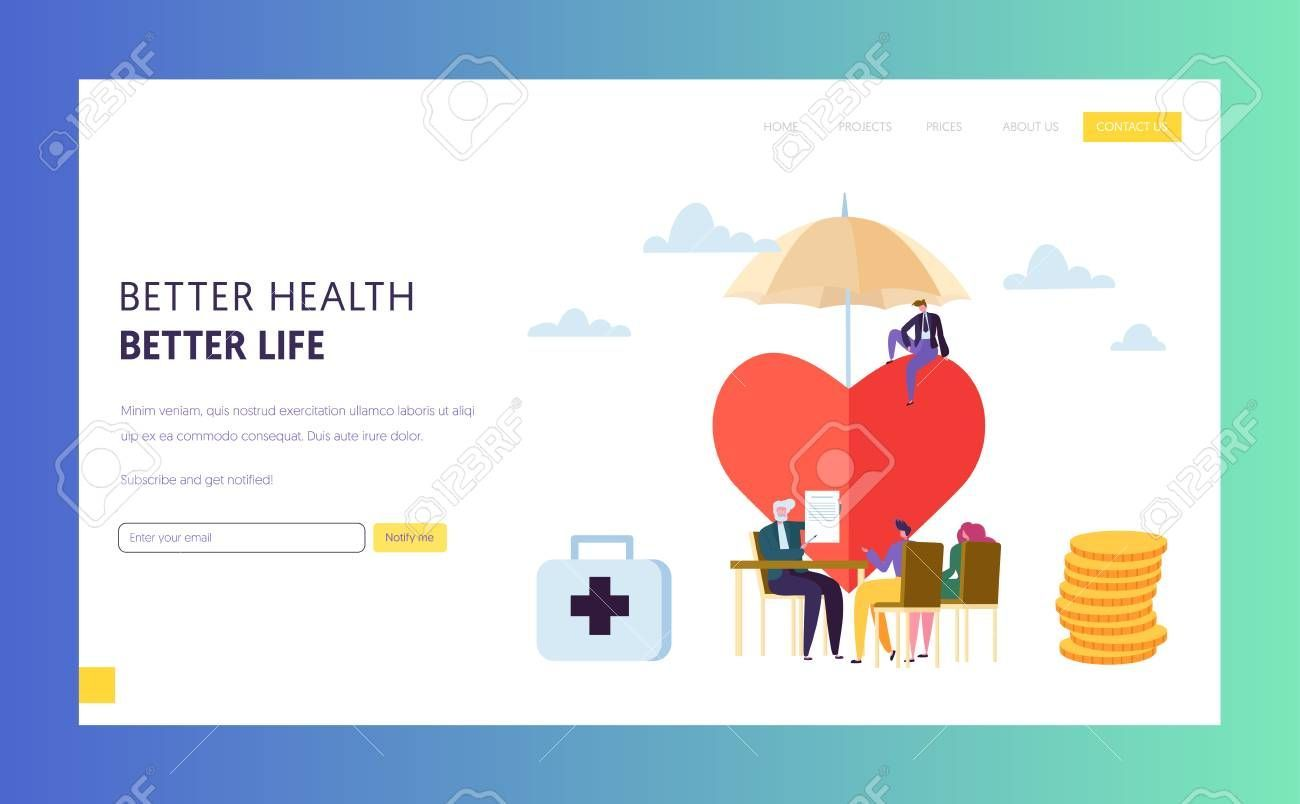 Wonderful No Cost Family Health Insurance Policy Sign Landing Page