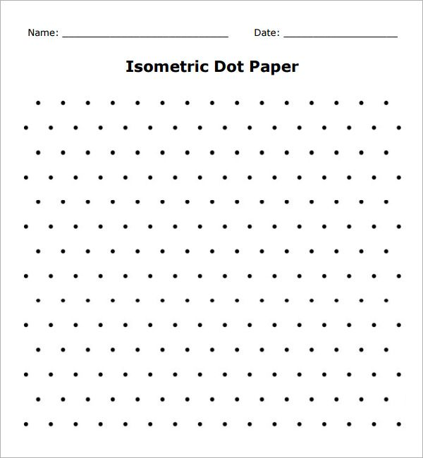 Isometric Dot Paper Sheet  Teaching    School