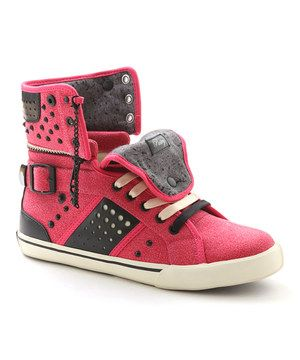 Look what I found on #zulily! Red & Black Pinwheel Hi-Top Sneaker by Pastry #zulilyfinds