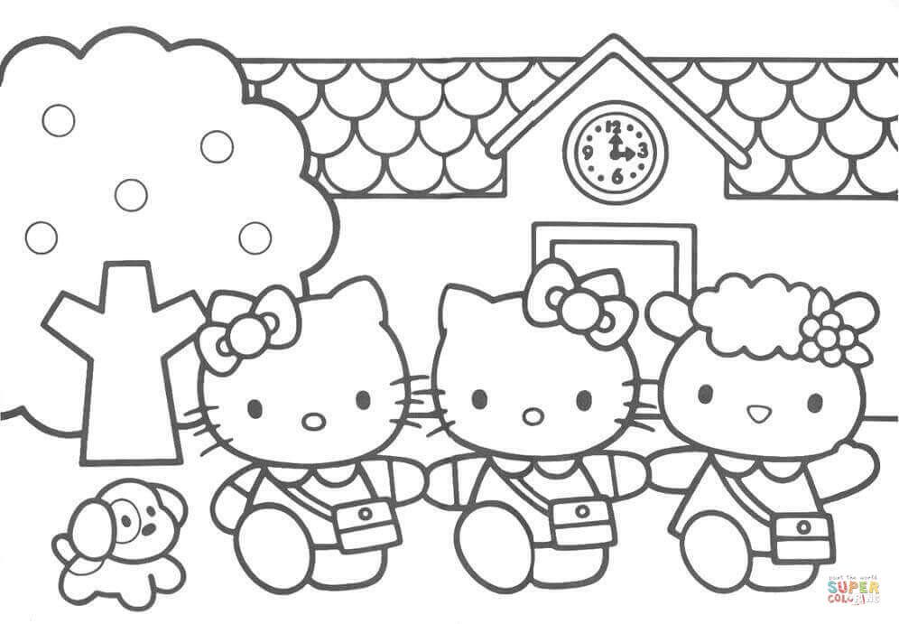 Hello Kitty Friends Coloring Page Free Printable Coloring Pages Hello Kitty Colouring Pages Kitty Coloring Hello Kitty Coloring