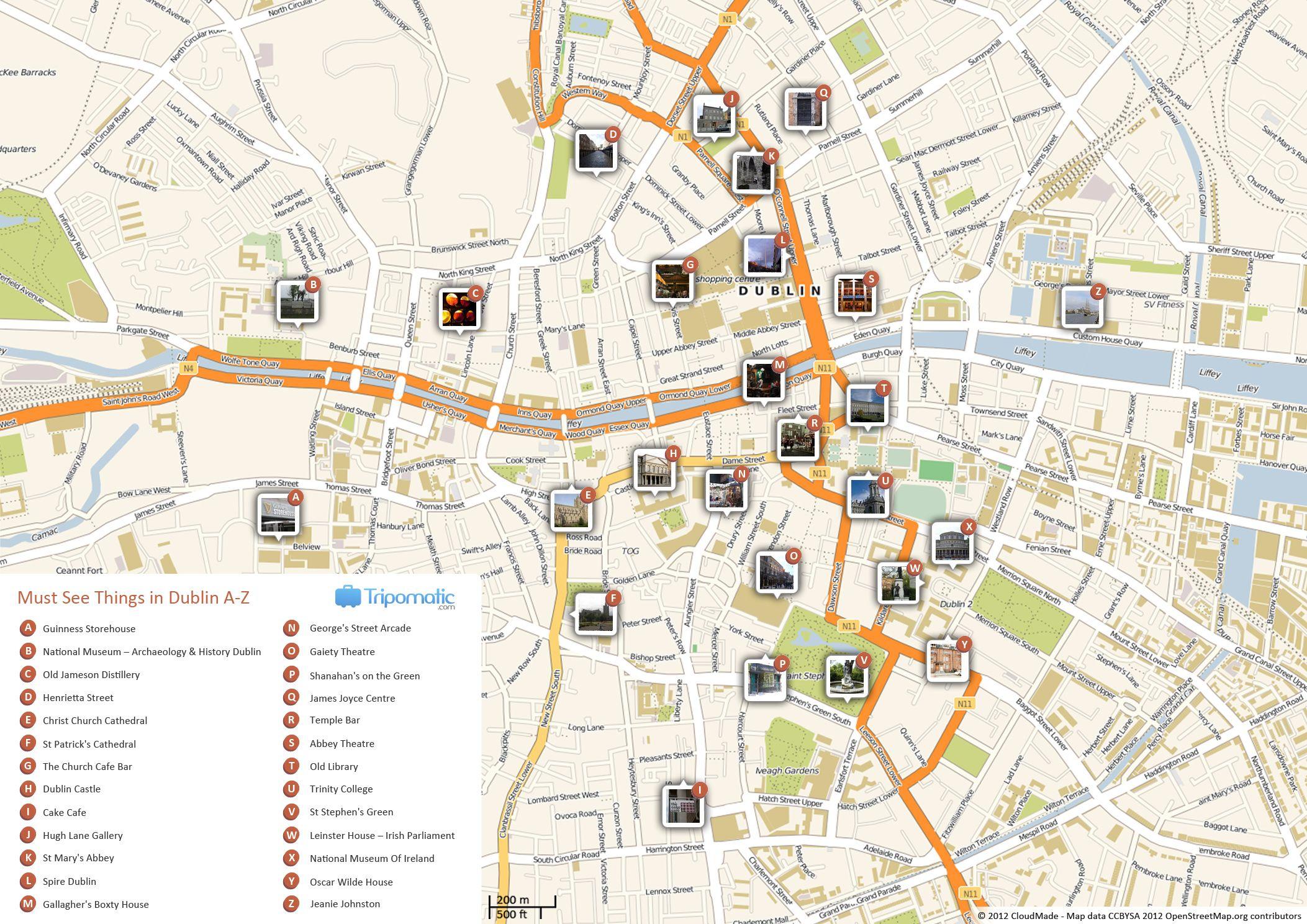 Map Of Dublin Ireland And Surrounding Area.Dublin Printable Tourist Map In 2019 Free Tourist Maps Dublin