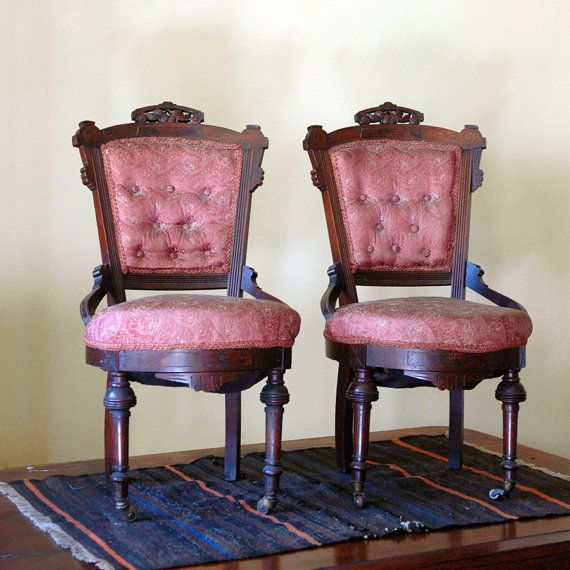 Fine Dining Furniture: Antique Renaissance Revival Chairs // 1800s Fine Dining By