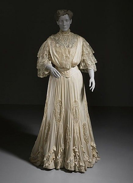Silk and Lace Evening Gown  -  1904