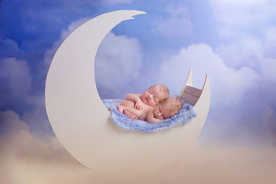 fairytale, twins, moon, heaven, boy, newborn