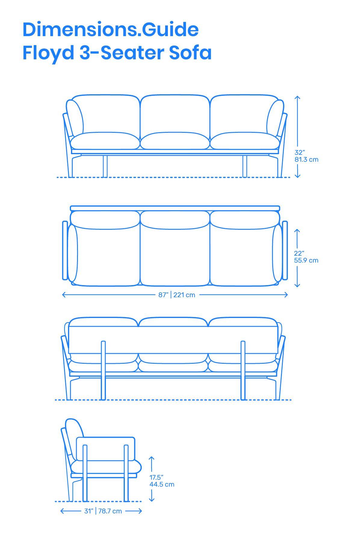 Floyd 3 Seater Sofa Furniture Design Sketches Interior Design