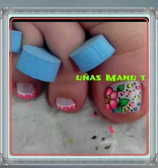 Uñas de pies | uñas Pies | Pinterest | Uñas de pies, Uñas de los ...