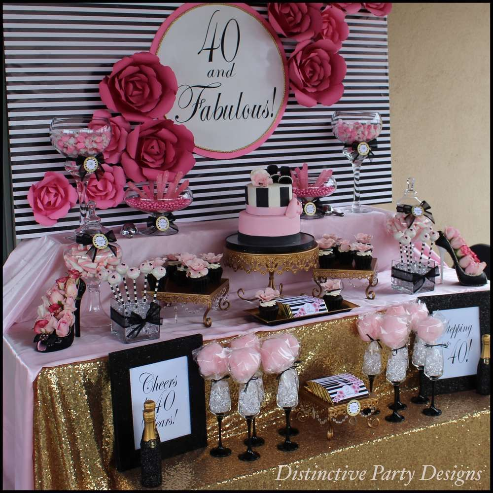 Fashion birthday party ideas birthday party ideas for 40 birthday decoration ideas