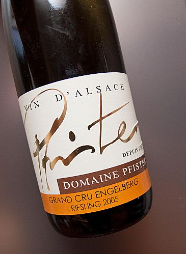 Riesling d'Alsace, Grand Cru Engelberg, 2005, Domaine Pfister.