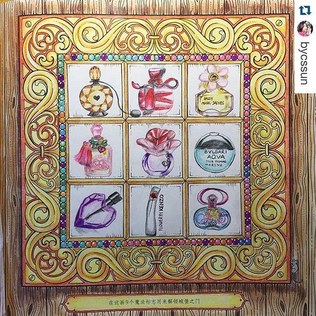 Instagram media florestaencantada2 - Adorei a ideia que a @bycssun teve de preencher os quadradinhos com seus perfumes favoritos ❤️ Uma graça!  ______________________________________ #jardimsecreto #florestaencantada #oceanoperdido #criatividade #colouringbook #art #pencil