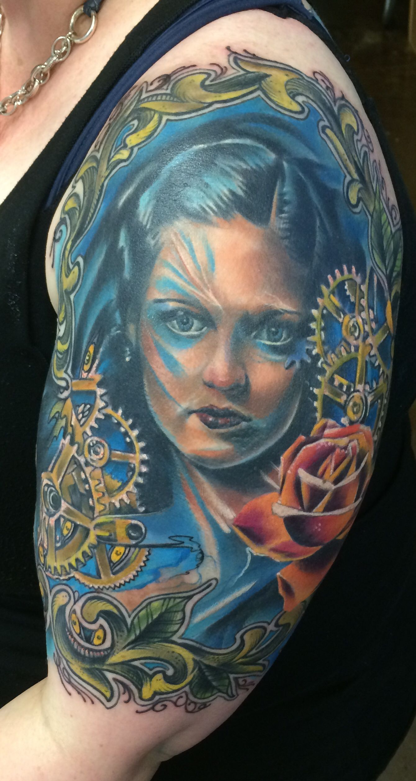 Its finally done by joshua hood at 8th ave tattoo in