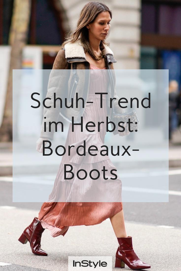 Wir sehen rot: Bordeaux Boots sind der Mega Schuh Trend im