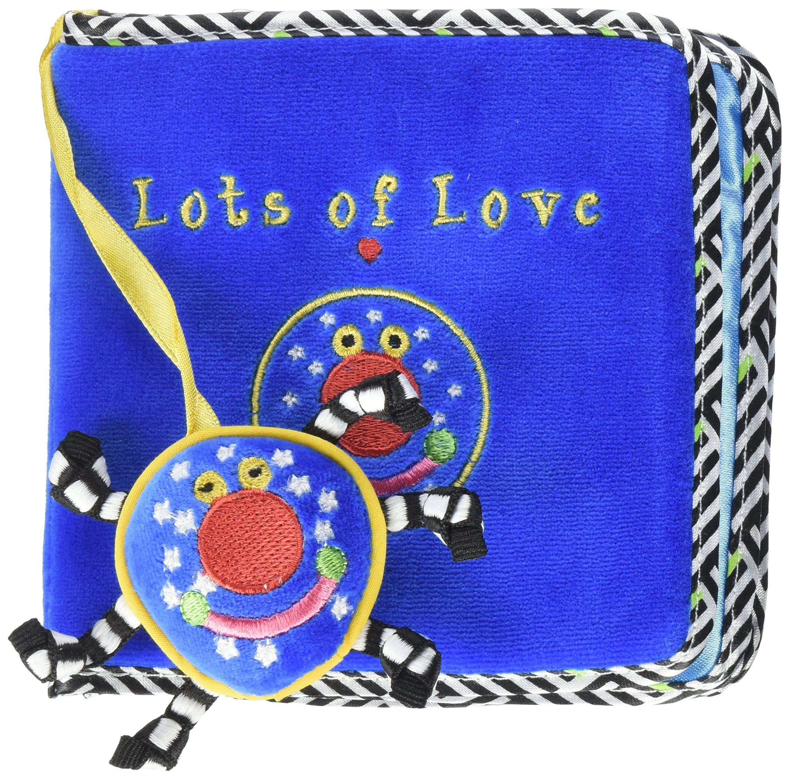Manhattan Toy Whoozit Lots of Love Soft Activity Book Baby Toy