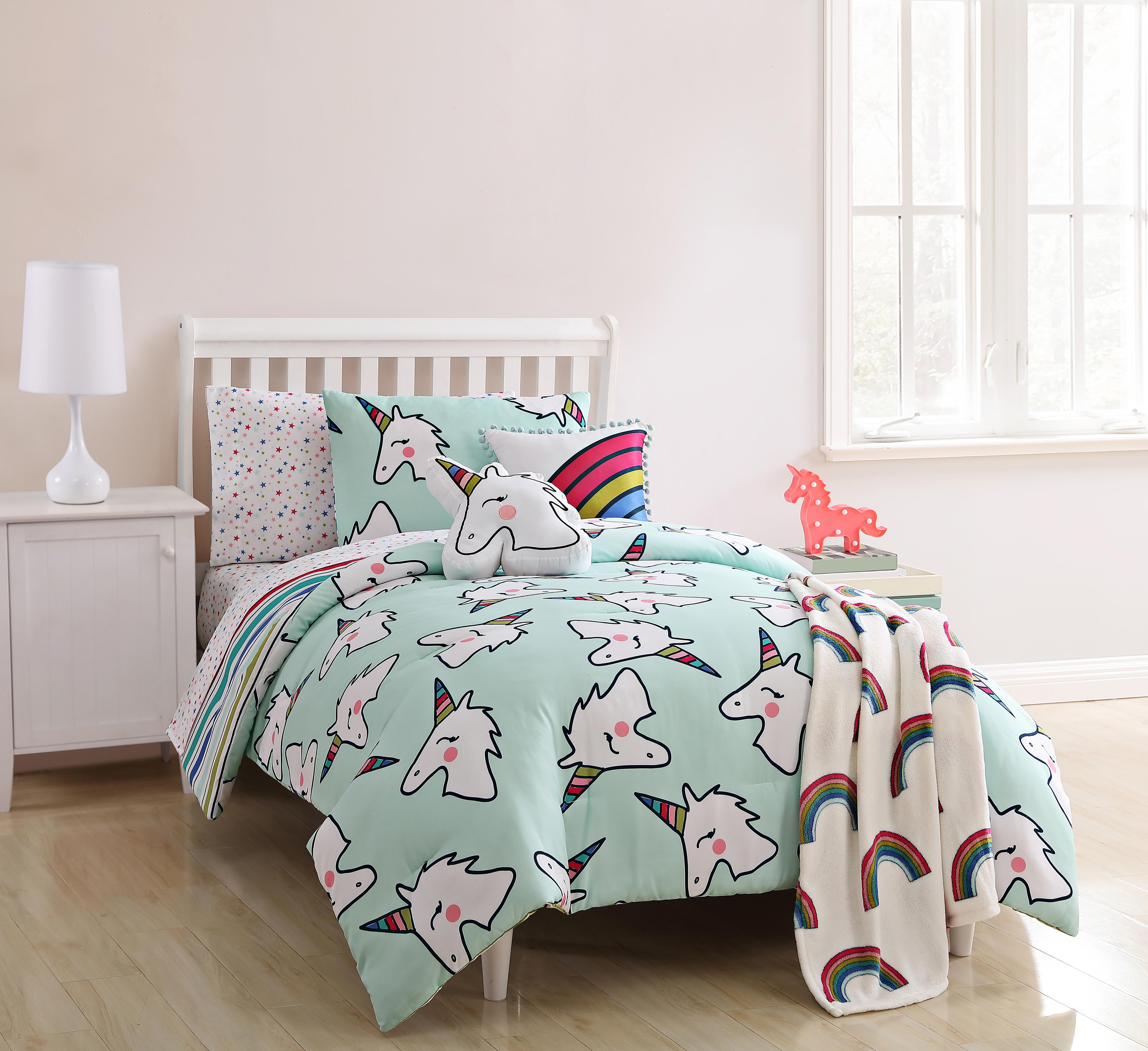 Piper Twin Comforter Set A Unicorn Multi Comforter Sets Kids Comforter Sets Kids Twin Bedding Sets