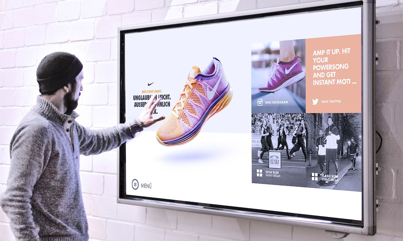 Touch screens that allows potential customer to create a visual ...