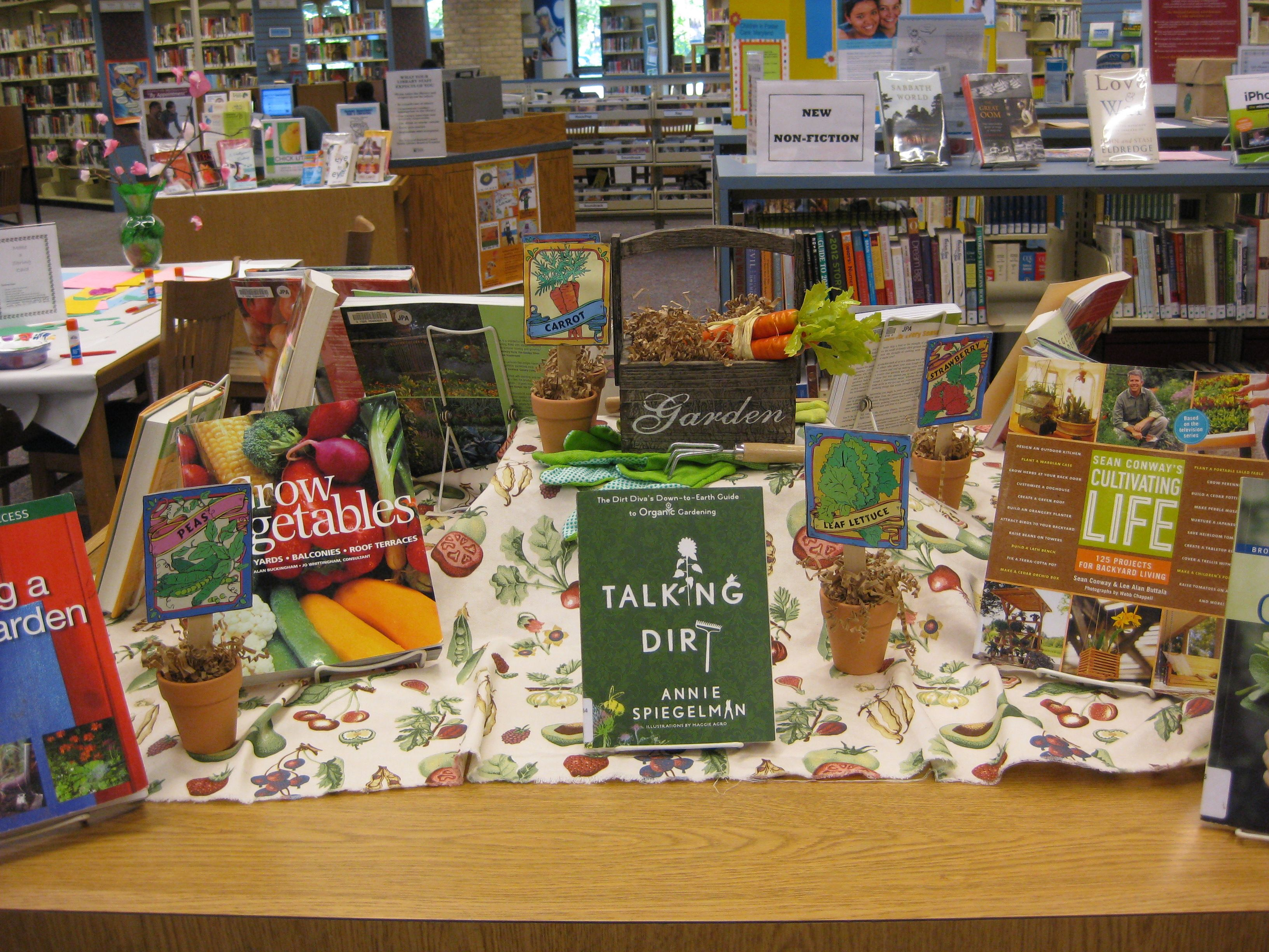 Librarydisplayideas Gardening @ The Library