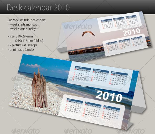 Desk Calendar 2010 Desk Calendars Template And Print Templates
