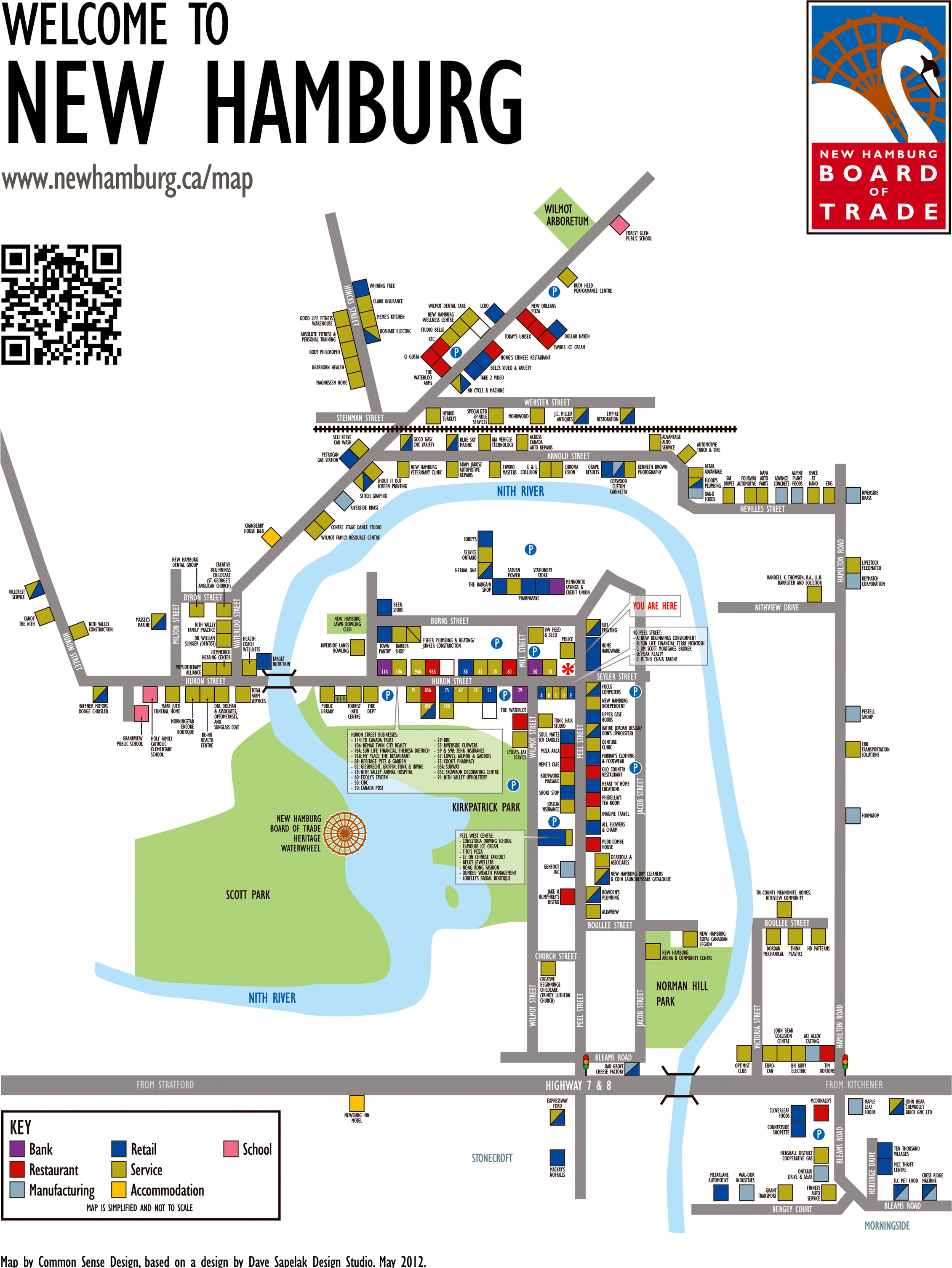 New Board of Trade map of downtown New Hamburg. | mapSCAPE ...