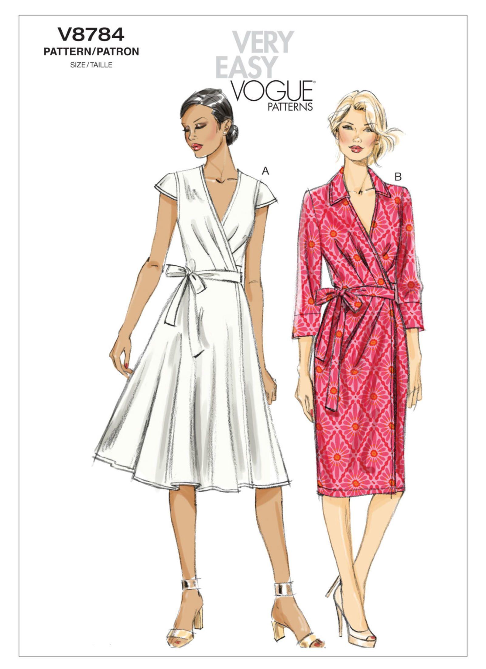 V8784 Wrap Dress Sewing Patterns Wrap Dress Pattern Vogue Dress Patterns [ 2200 x 1600 Pixel ]