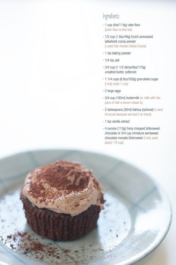 recipe for 6 chocolate cupcakes