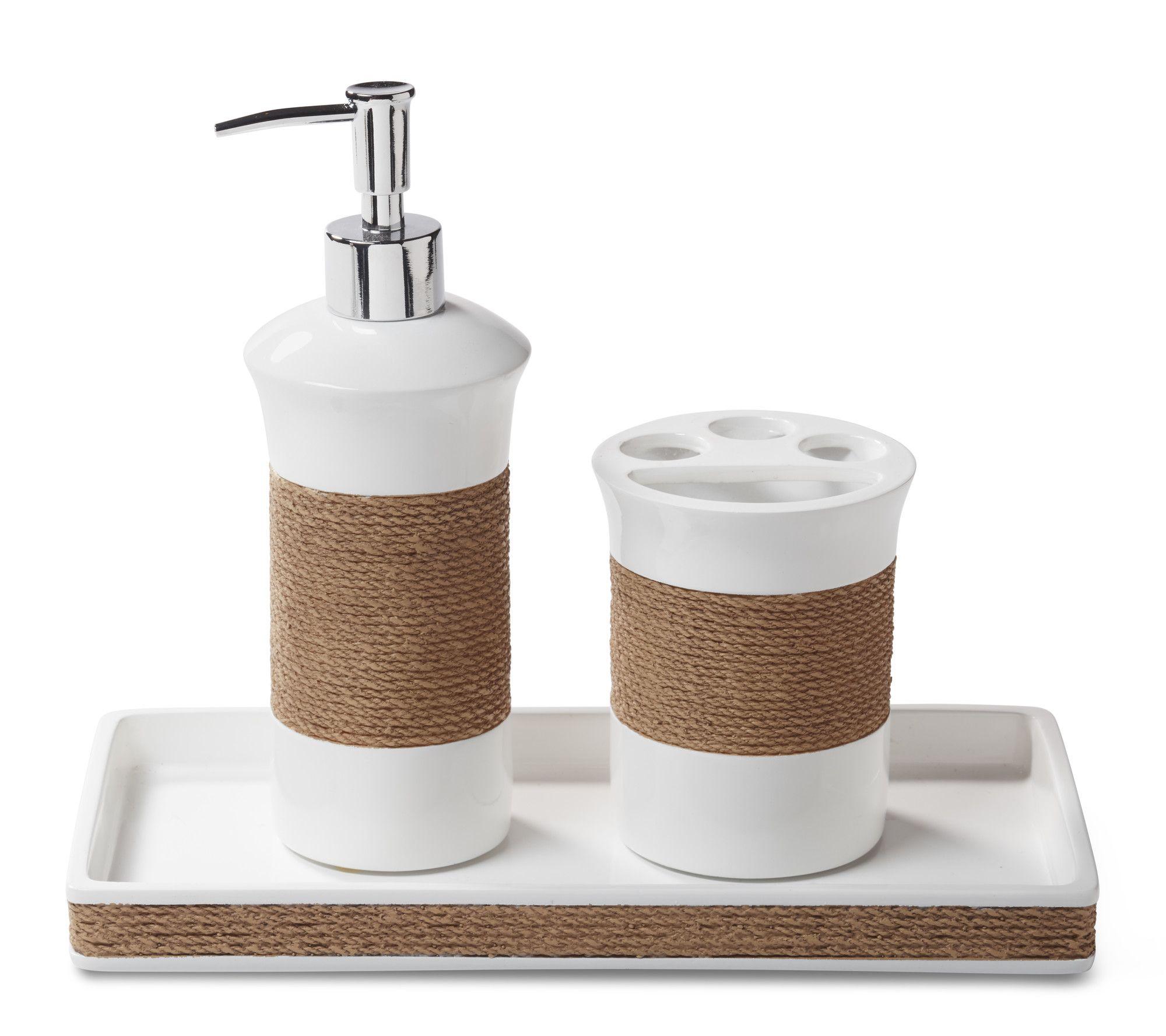 Castaway 3-Piece Bathroom Accessory Set | Bathroom accessories sets ...