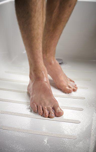 3M Safety-Walk Bathtub Strip, 0.75-Inch by 17-Inch, White, 7 Strips ...
