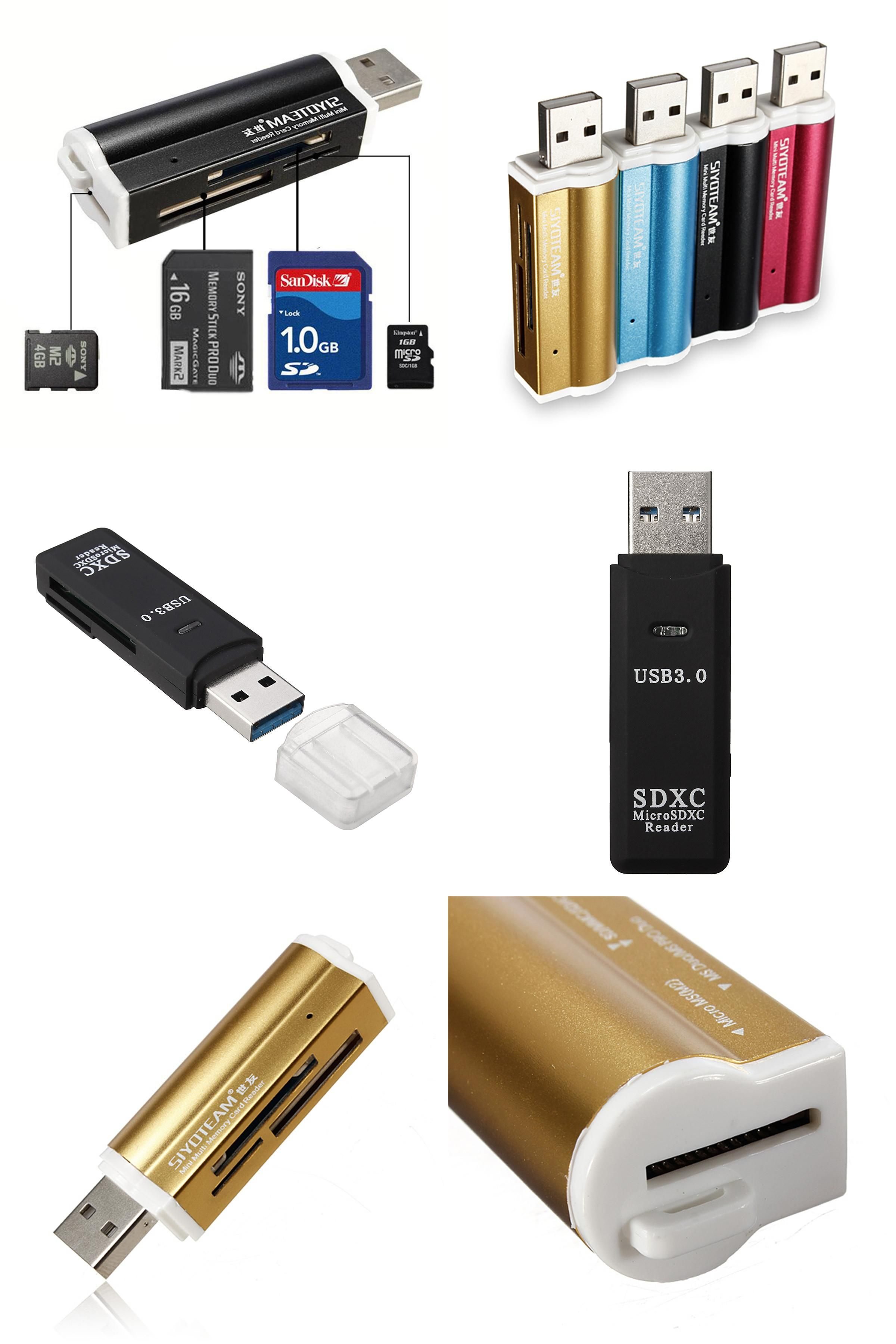 USB 2.0 Multi Memory Card Reader Adapter For Micro SD SDHC TF M2 MMC MS PRO CA