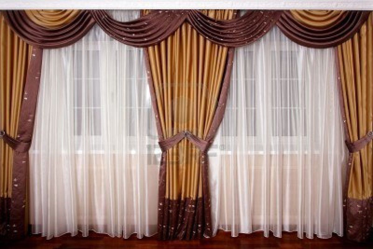 luxurydrapes Beautiful White Silk and Brown