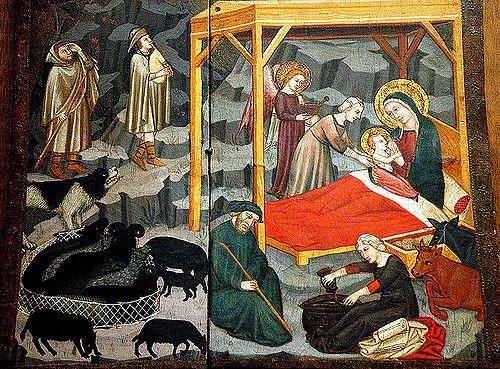 Pittore dell'Italia centrale, XIV secolo - Natività - Musei Capitolini - Roma