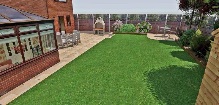 Sketchup garden design by David Gisbourne. | Landscape ...