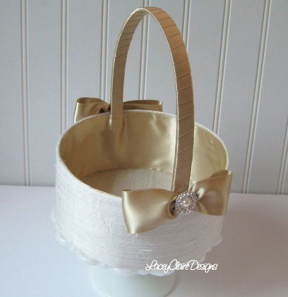 Flower Girl Basket   Custom Made  Basket for by LaceyClaireDesigns, $45.00