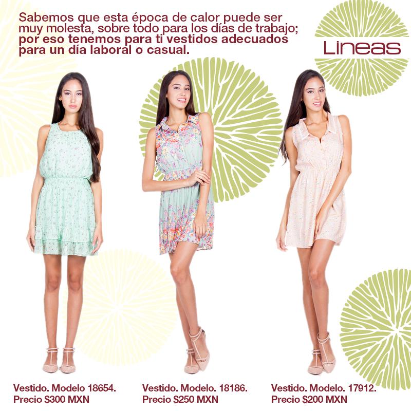 Elige el vestido ideal para ti. #Lineas #outfit #moda #tendencias #2014 #ropa #prendas #estilo #primavera #vestido